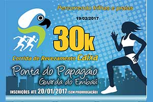 30 Km Ponta do Papagaio Guarda do Embaú 2017