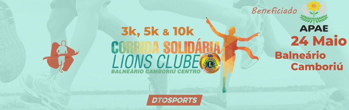 Corrida Solidária Lions Clube