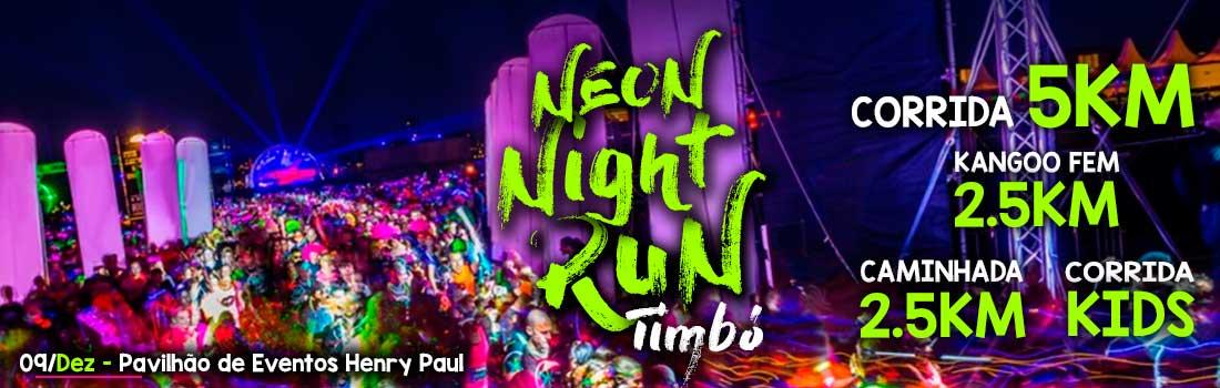 Neon Night Run Timbó 2017