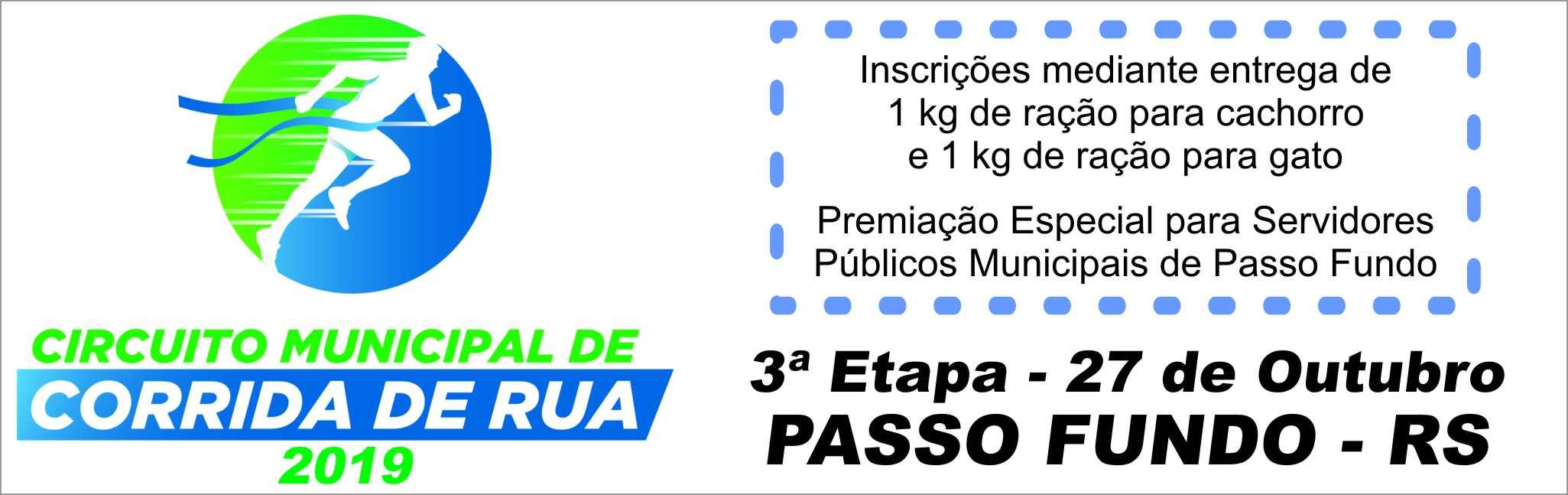 3ª Etapa Circuito Municipal de Corrida De Rua - Prefeitura de Passo Fundo - Rádio Uirapuru