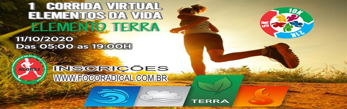 1ª Corrida Virtual Elementos da Vida - ETAPA TERRA