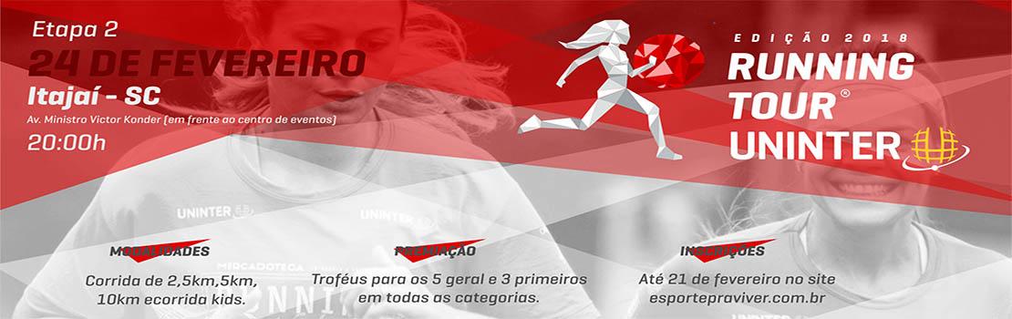 Running Tour Uninter - Etapa Itajaí 2018
