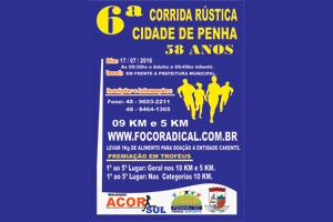 6ª Corrida Rústica e Caminhada de Penha