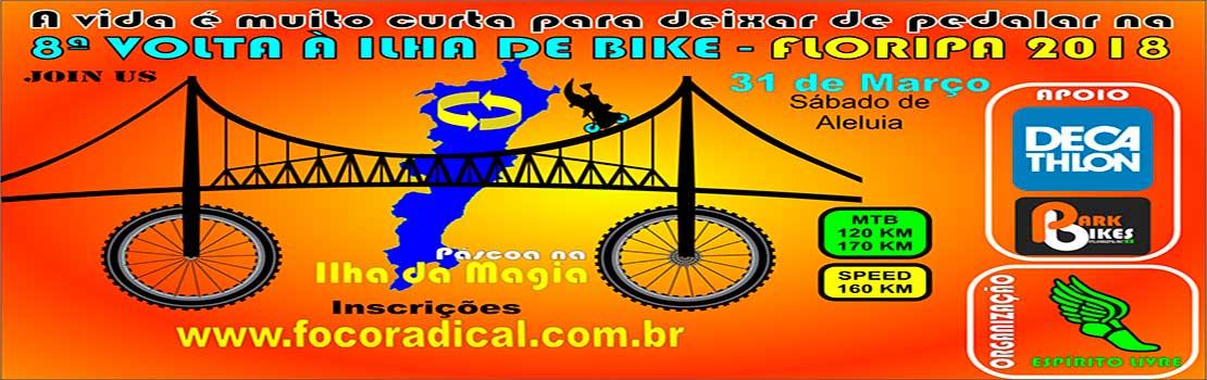 8ª Volta à ilha de Bike - Floripa 2018 - ESTREANTES