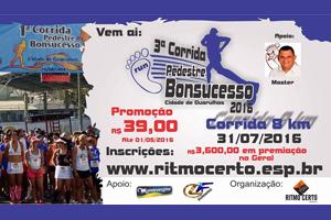 3ª Corrida Pedestre e Caminhada Bonsucesso