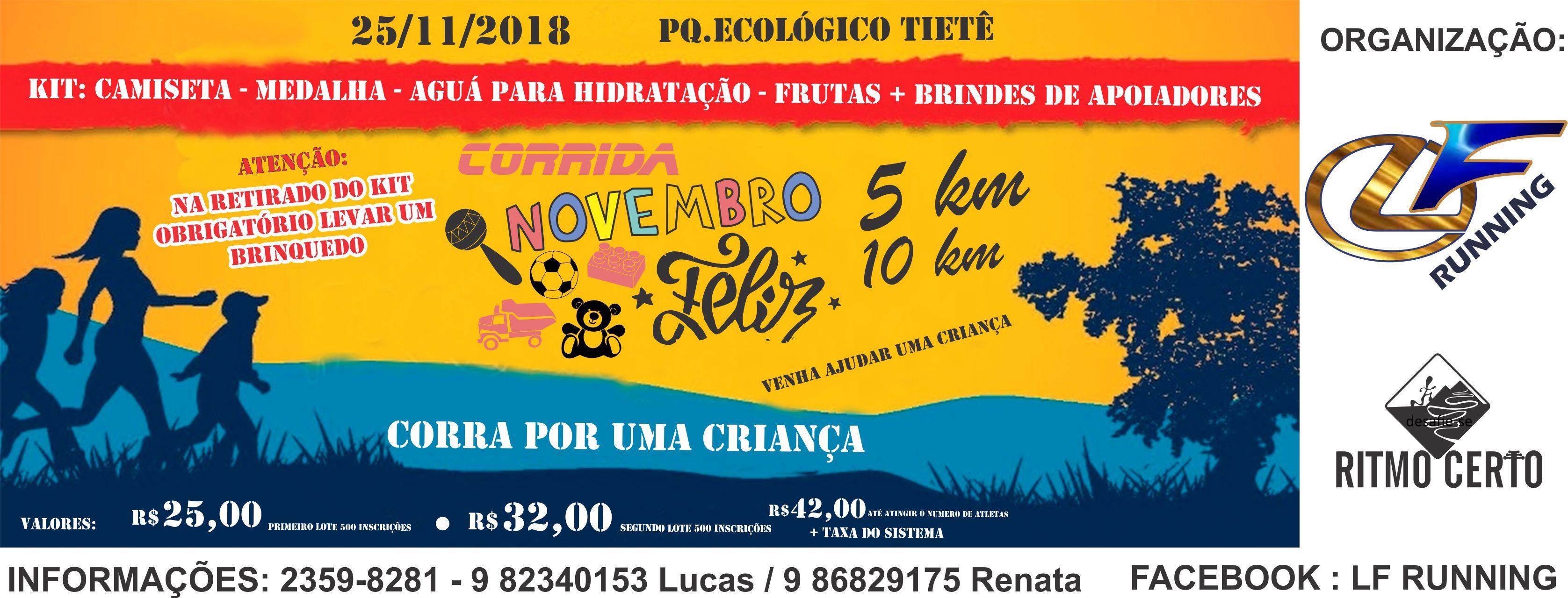 Corrida e Caminhada Novembro Feliz 2018