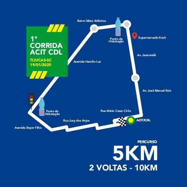 Percurso Corrida ACIT CDL