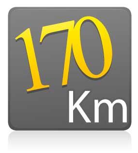 Estreantes - 170 km - COM camiseta de ciclismo ZIPER 15 CM - LARANJA
