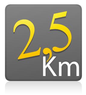 2,5 Km - Individual sem camiseta - Lote único