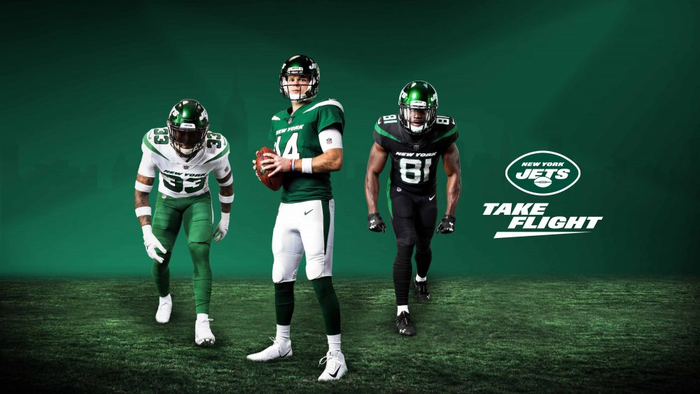 The New York Jets revealed new uniforms on an April 4 livestream.