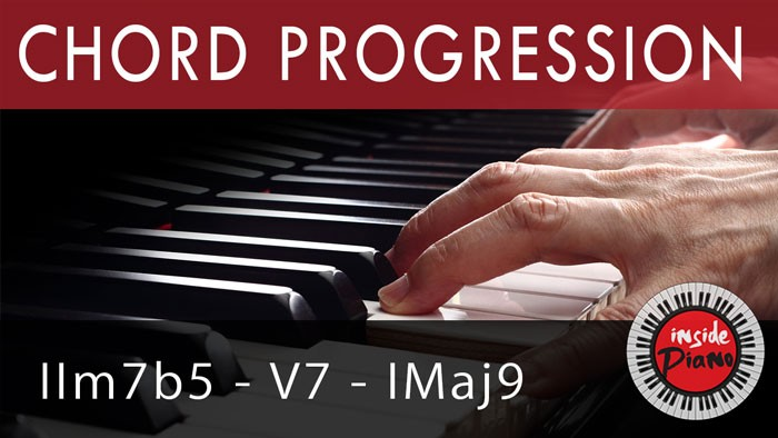 Piano Chord Progression IIm7b5-V-I