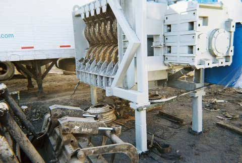 Barclay Used 6 Quot Primary Tire Shredder Alan Ross Machinery