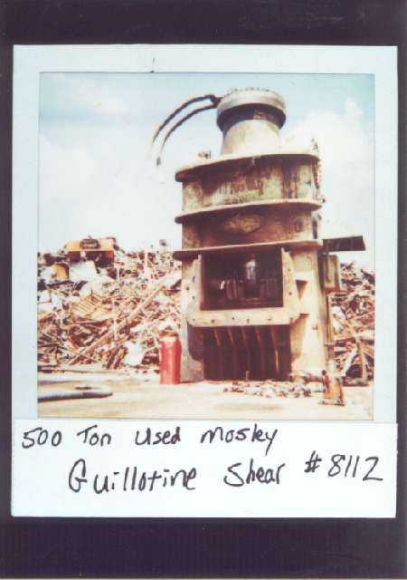500 Ton Used Mosley Guillotine Shear Alan Ross Machinery