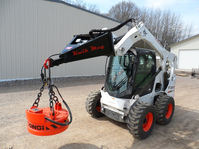 27 Quot New Kwik Mag Skid Loader Magnet System Alan Ross