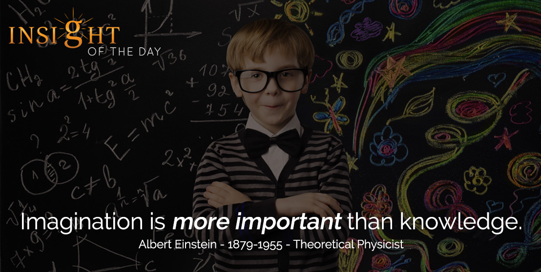 motivational quote: Imagination is more important than knowledge. - Albert Einstein - 1879-1955 - Theoretical Physicist