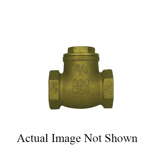 McDonald® 5420-198 72050T Directional Swing Check Valve, 1/2 in, FNPT, Brass Body, Low Lead Compliance: Yes