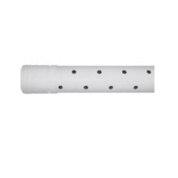 ADS® TripleWall® 0452-0010 Perforated Two Hole Stamp On Pipe, 4 in I.D x 4.215 in O.D Dia x 10 ft L, Triple Wall, HDPE