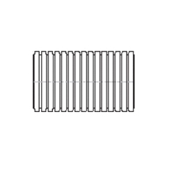 ADS® 04540010 Solid Regular Annular Corrugated Stamp On Pipe, 4 in I.D Dia x 10 ft L, Single Wall, Polyethylene