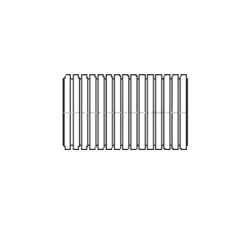 ADS® 06510010 Solid Regular Corrugated Stamp On Pipe, 6 in I.D Dia x 10 ft L, Single Wall, Polyethylene