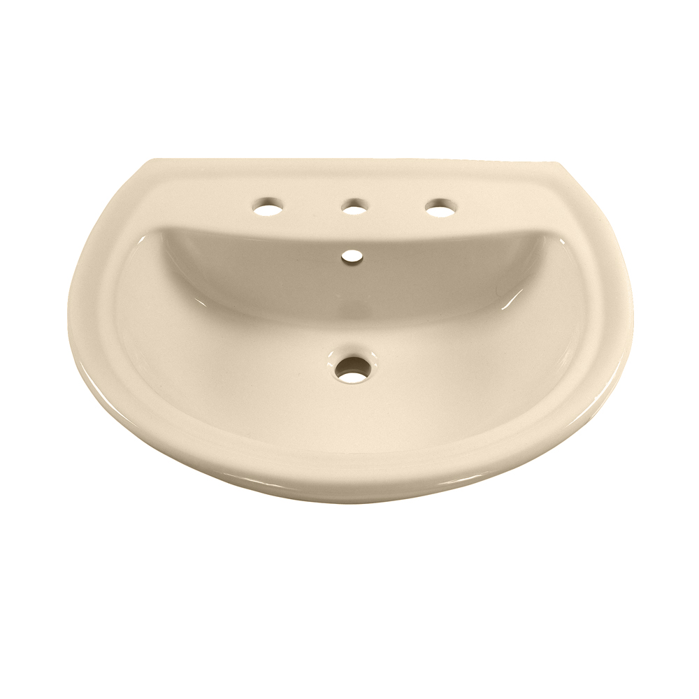 American Standard 0236.008.021 Cadet® Plus Pedestal Sink Top, 8 in Faucet Hole Spacing, Import