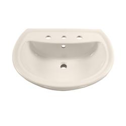 American Standard 0236.008.222 Cadet® Plus Pedestal Sink Top, 8 in Faucet Hole Spacing, Import