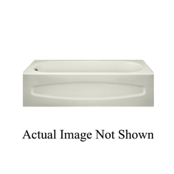 American Standard 0255112.020 New Salem® Recessed Bathtub With Integral Apron, Soaking, Rectangular, 60 in L x 30 in W, Right Hand Drain, White, Domestic