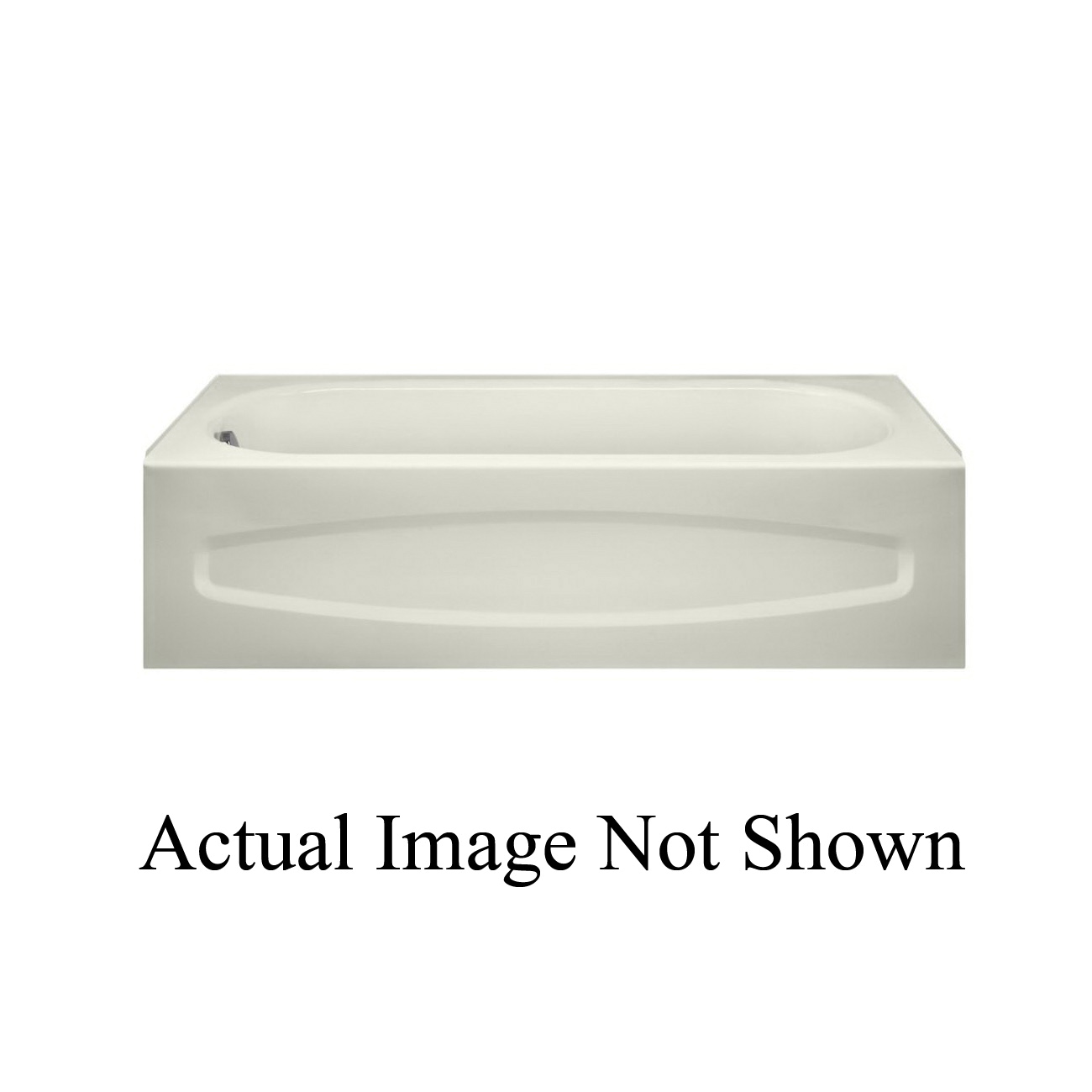 American Standard 0255212.020 New Salem® Recessed Bathtub With Integral Apron, Rectangular, 60 in L x 30 in W, Left Hand Drain, White, Domestic