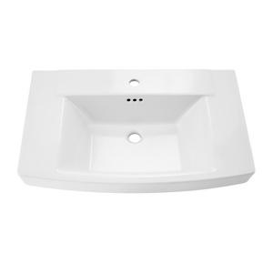 American Standard 0328.001.020 Townsend® Bathroom Sink, Rectangular, Pedestal Mount, Fine Fireclay, White, Import