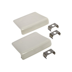 American Standard 034782-0200A Bolt Cap Cover Plate Kit, For Use With Roma, Elise and New Lexington Toilet, White, Import