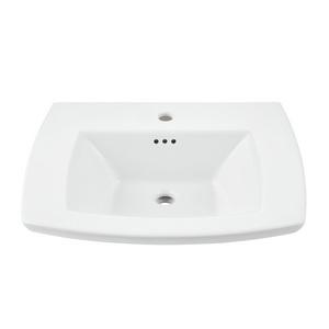 American Standard 0445001.020 Edgemere® Pedestal Lavatory Sink Top, 19-1/2 in L x 25 in W x 5-1/2 in H, Import