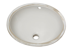 American Standard 0495.221.020 Ovalyn™ Bathroom Sink With Front Overflow, Classic Oval, 17-1/8 in W x 14-1/8 in D x 7-1/2 in H, Undercounter Mount, Vitreous China, White, Import