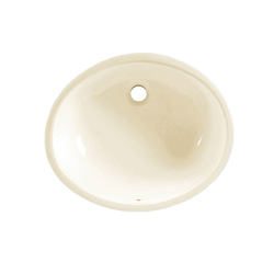 American Standard 0496.221.222 Ovalyn™ Bathroom Sink With Front Overflow, Classic Oval, 19-1/4 in W x 16-1/4 in D x 7-3/16 in H, Undercounter Mount, Vitreous China, Linen, Import