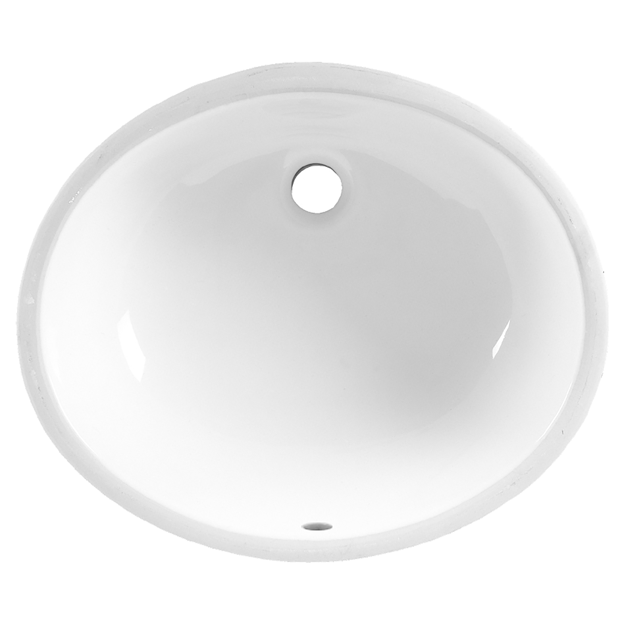 American Standard 0496.221.020 Ovalyn™ Bathroom Sink With Front Overflow, Classic Oval, 19-1/4 in W x 16-1/4 in D x 7-3/16 in H, Undercounter Mount, Vitreous China, White, Import