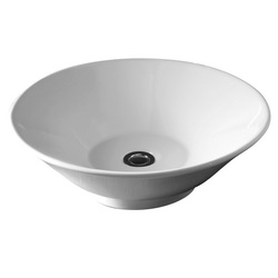 American Standard 0514.000.020 Celerity Lavatory Sink Without Overflow, Round, Above Counter Mount, Vitreous China, White, Import