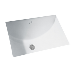 American Standard 0614.300.020 Studio™ Suite Bathroom Sink With Front Overflow, Rectangular, 21-1/4 in W x 15-1/4 in D x 8-1/4 in H, Undercounter Mount, Vitreous China, White, Import