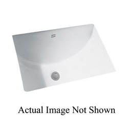 American Standard 0614.000.222 Studio™ Bathroom Sink With Front Overflow, Rectangular, 21-1/4 in W x 15-1/4 in D x 8-1/4 in H, Undercounter Mount, Vitreous China, Linen, Import