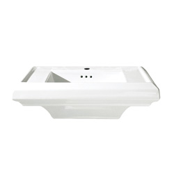 American Standard 0790.001.020 Town Square® Pedestal Sink Top, 24 in L x 20-1/4 in W, Square Sink, Import