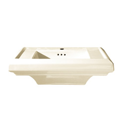 American Standard 0790.001.222 Town Square® Pedestal Sink Top, 24 in L x 20-1/4 in W, Square Sink, Import