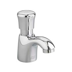 American Standard 1340.105.002 Pillar Tap Metering Faucet, 1 gpm, 2 in H Spout, 1 Handle, Polished Chrome, Domestic, Commercial