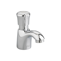 American Standard 1340.109.002 Pillar Tap Metering Faucet Without Grid, 1 gpm, 2 in H Spout, 1 Handle, Polished Chrome, Commercial, Import