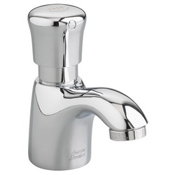 American Standard 1340M.105.002 Pillar Tap Metering Faucet Without Grid Drain, 1 gpm, 2 in H Spout, 1 Handle, Polished Chrome, Import