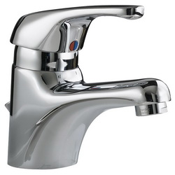 American Standard 1480.150.002 Seva™ Monoblock Single Control Centerset Lavatory Faucet Without Drain and Pop-Up Hole, 0.5 gpm, 2 in H Spout, 1 Handle, 1 Faucet Hole, Polished Chrome, Import, Commercial