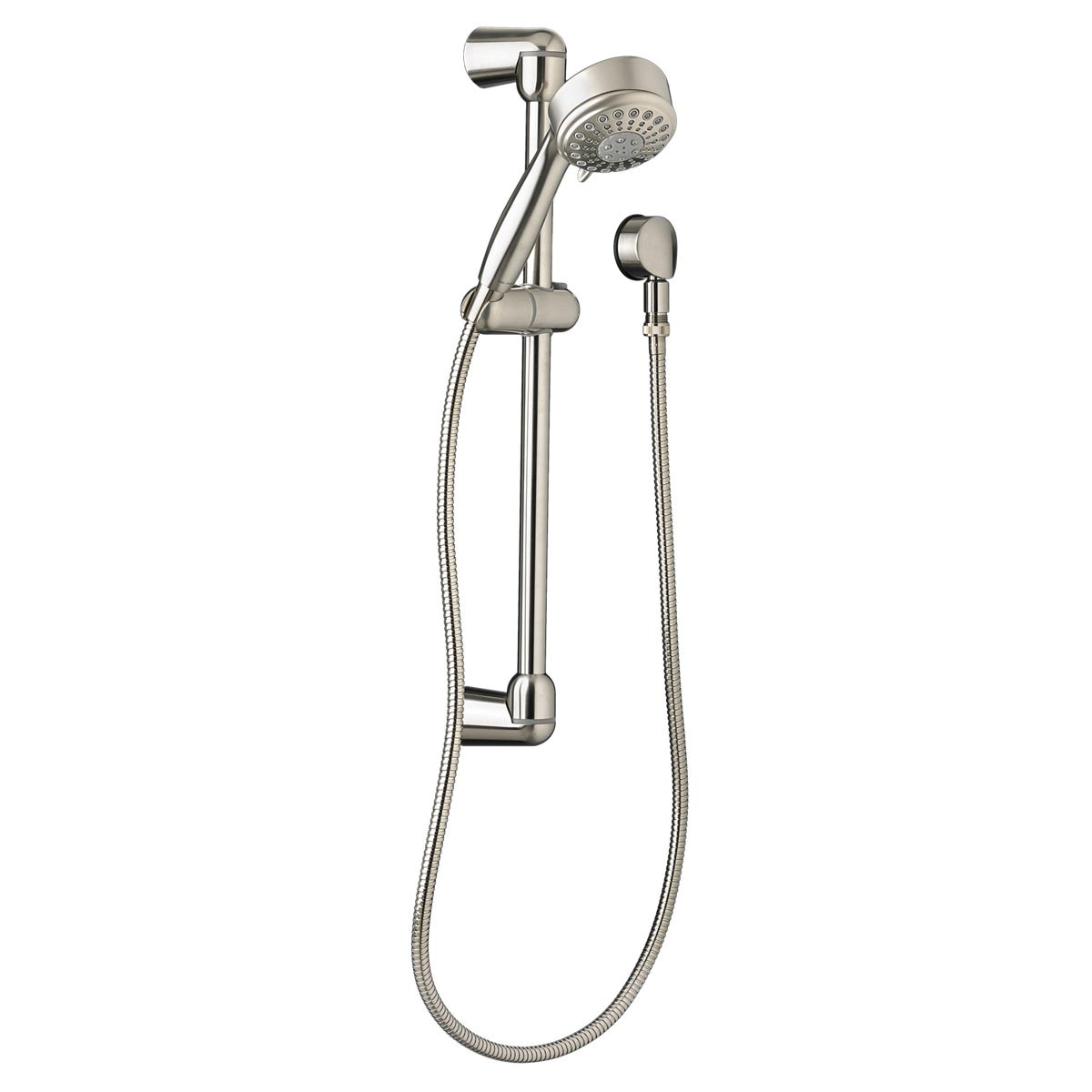 American Standard 1660638.295 Modern 5-Function Shower System Kit, 3-3/4 in Dia Head, 2.5 gpm, 59 in Hose L, Import