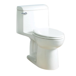American Standard 2004314.020 Champion® 4 1-Piece Toilet With Toilet Seat, Elongated Bowl, 15 in H Rim, 1.6 gpf, White