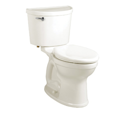 American Standard 211AA004.020 Champion® Pro Right Height™ 2-Piece Toilet, Elongated Bowl, 16-1/2 in H Rim, 1.6 gpf, White, Import