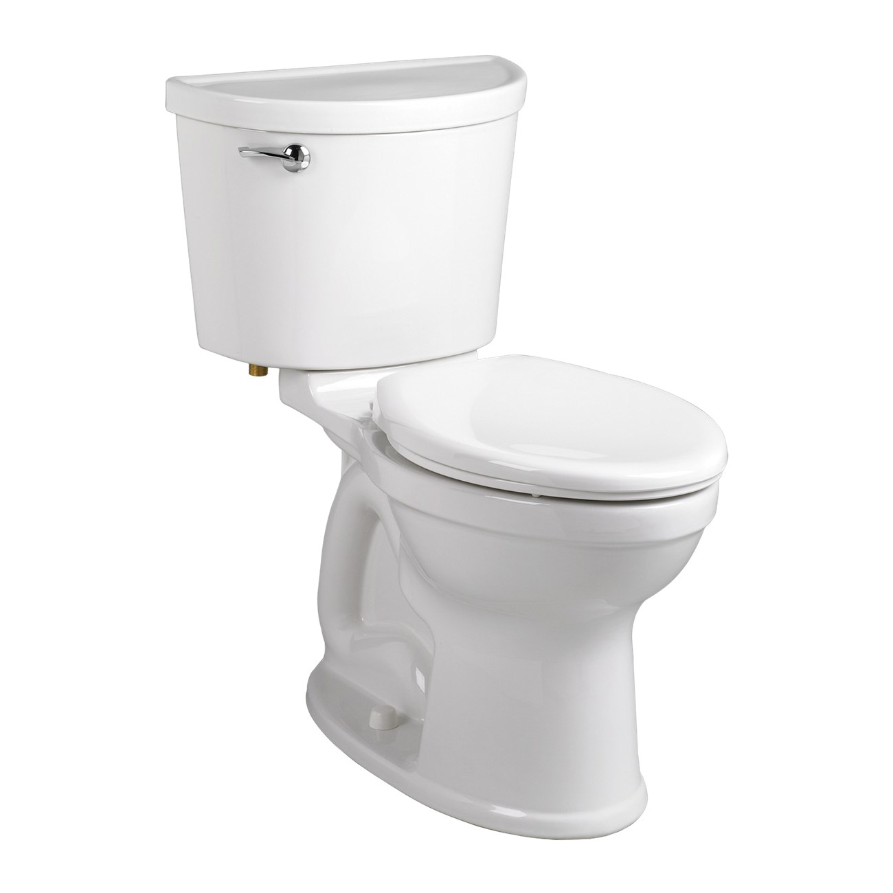 American Standard 211AA104.020 Champion® Pro™ Right Height® Two-Piece Toilet, Elongated Bowl, 16-1/2 in H Rim, 1.28 gpf, White, Domestic