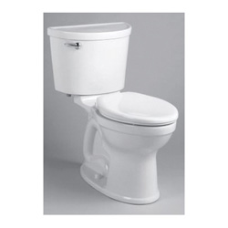 American Standard 211AA105.020 Champion® Pro™ Right Height® Two-Piece Toilet, Elongated Bowl, 16-1/2 in H Rim, 1.28 gpf, White, Domestic