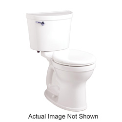 American Standard 211BA004.020 Champion® Pro™ 2-Piece Toilet Without Seat, Right Height® Round Front Bowl, 16-1/2 in H Rim, 1.6 gpf, White, Import
