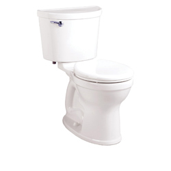 American Standard 211BA104.020 Champion® Pro Right Height™ 2-Piece Toilet, Round Front Bowl, 16-1/2 in H Rim, 1.28 gpf, White, Domestic