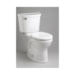 American Standard 211BA105.020 Right Height® Champion® Pro™ Two-Piece Toilet, Round Front Bowl, 16-1/2 in H Rim, 1.28 gpf, White, Domestic